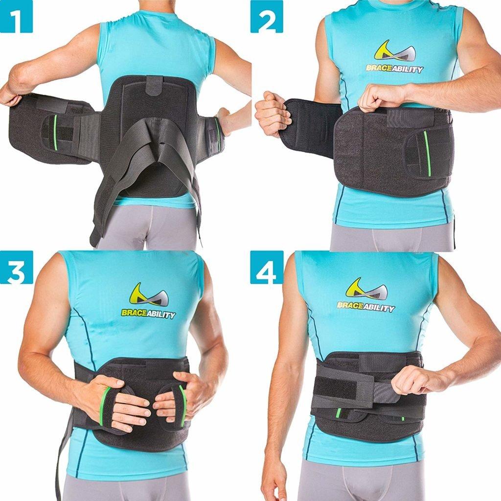 Brace Ability LSO Back Brace - medical back bracer for lower back pain