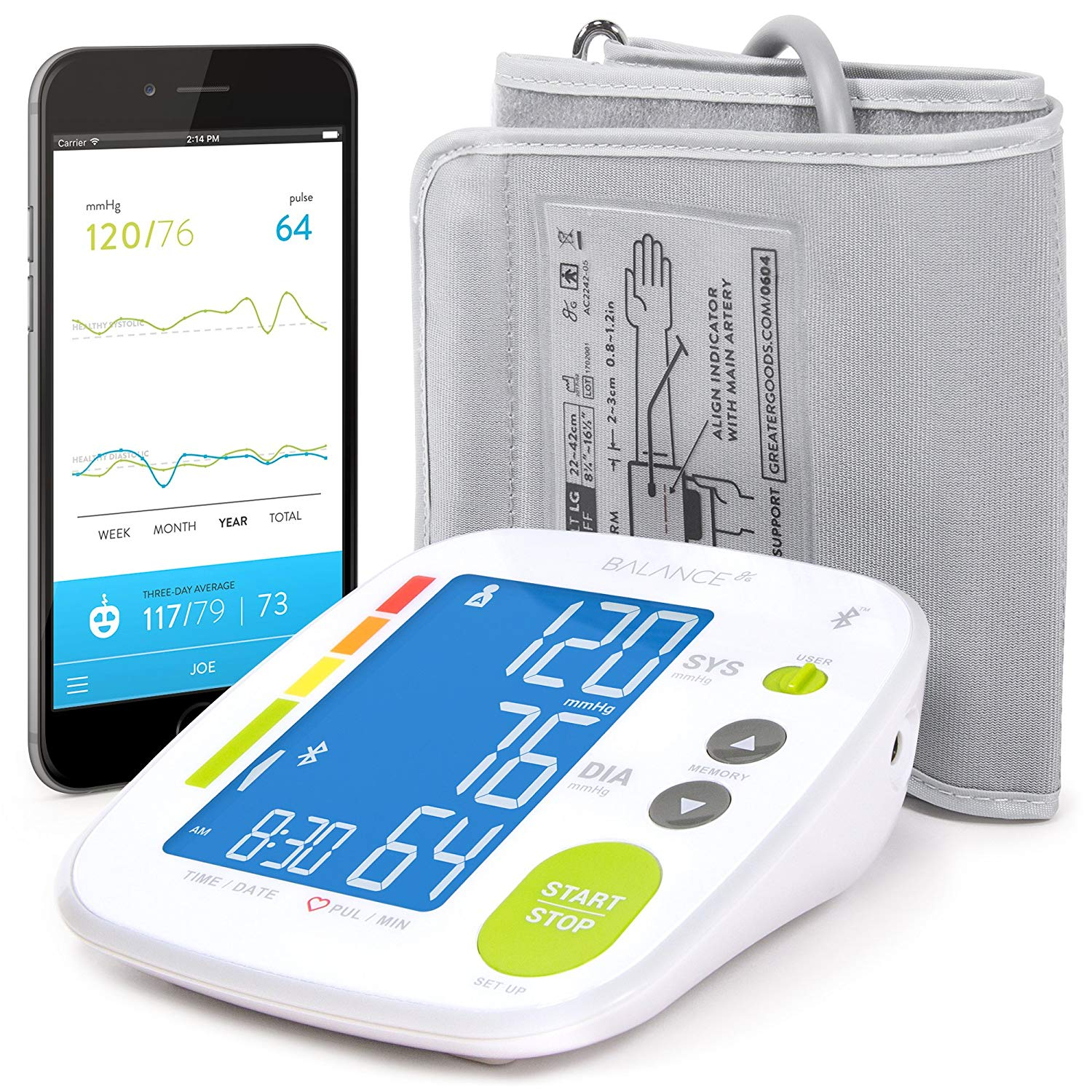 Our #4 Rated - Greater Goods Blood Pressure Monitor