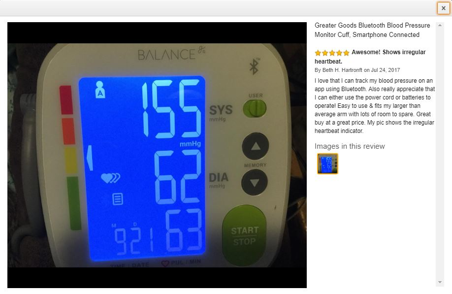 greater goods blood pressure monitor review