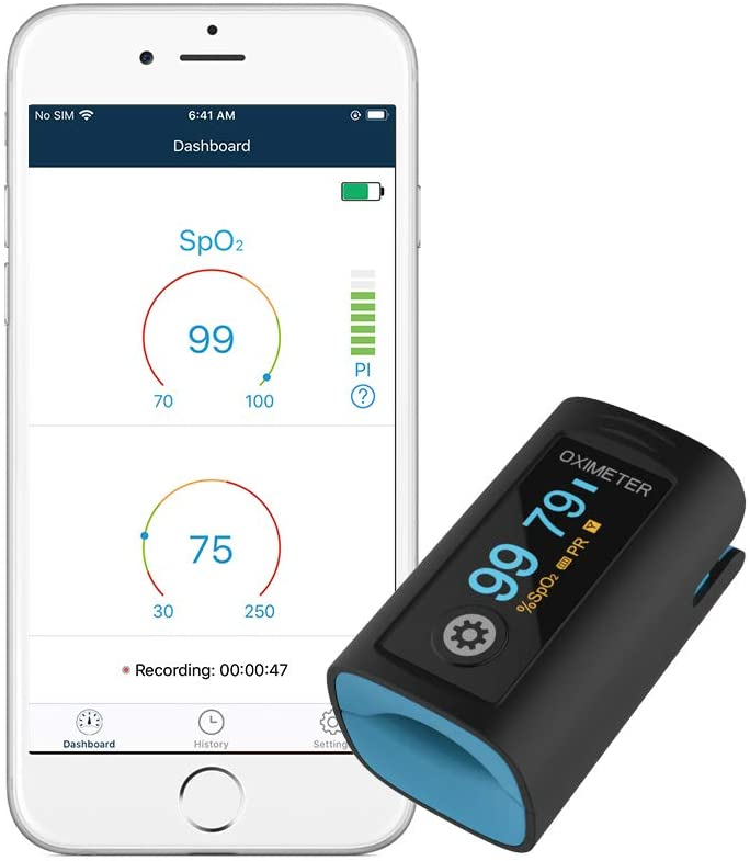 Best Pulse Oximeter Overall - Wellue Fingertip Blood Oxygen Saturation Monitor