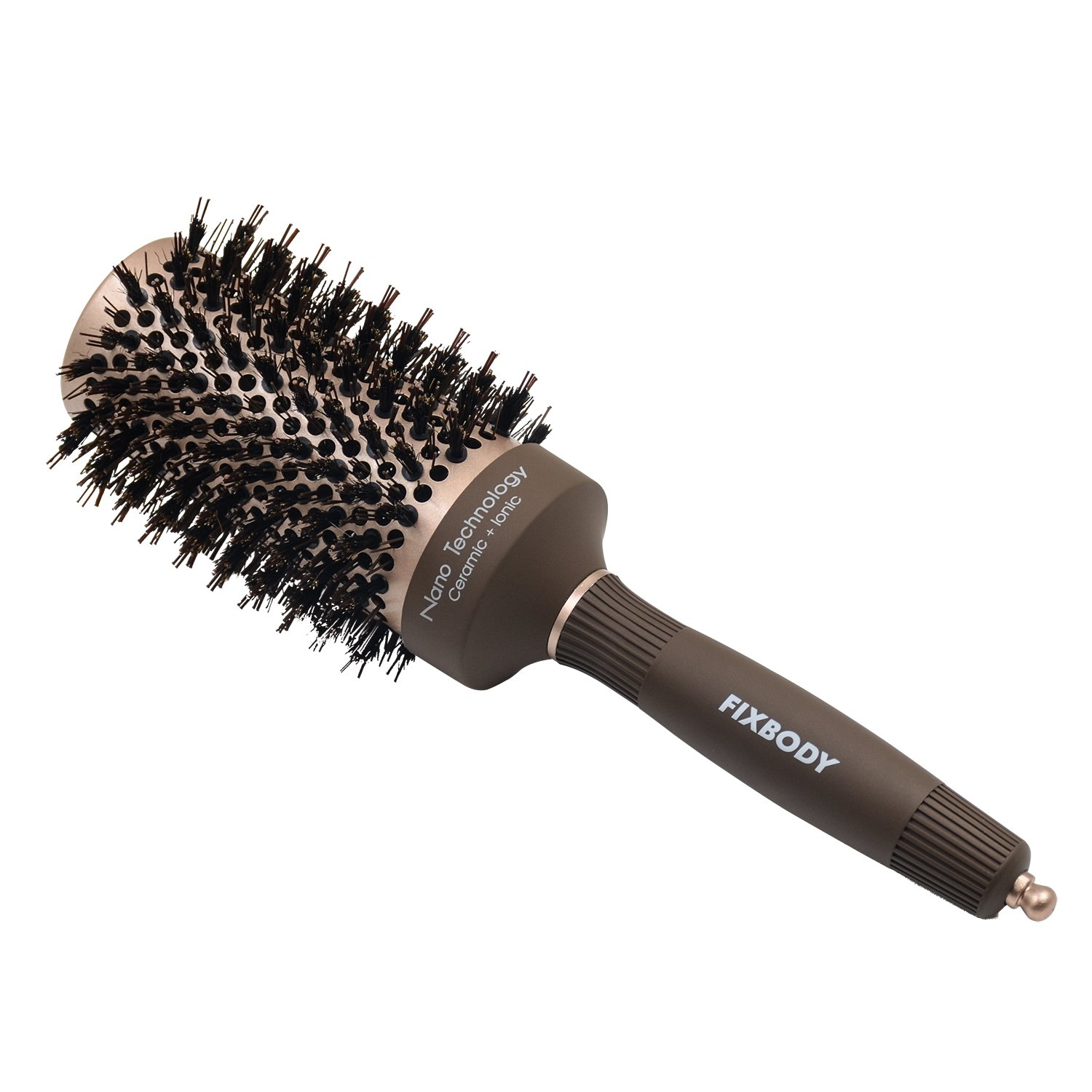 Best Budget: FIXBODY Boar Bristles Round Hair Brush for fine hair